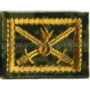 Петлицы Сухопутные войска вышивка желтые пара