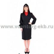 Платье Полиция с платком длинный рукав тк. Габардин